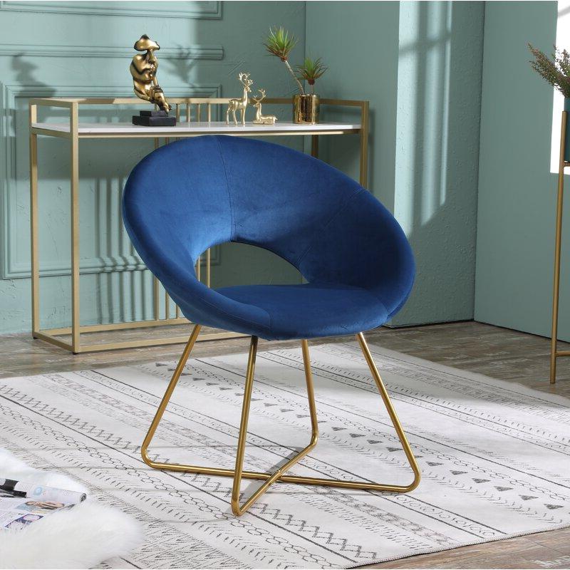 "Grinnell Silky Velvet 15"" Papasan Chair In Grinnell Silky Velvet Papasan Chairs (View 5 of 20)"