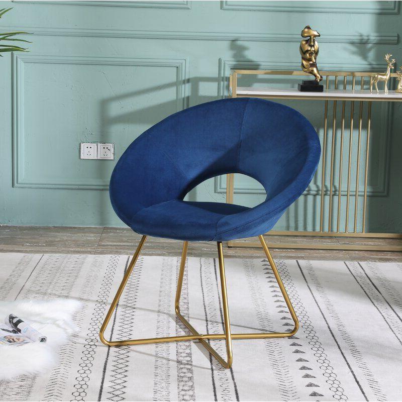 "Grinnell Silky Velvet 15"" Papasan Chair | Papasan Chair Pertaining To Grinnell Silky Velvet Papasan Chairs (View 4 of 20)"