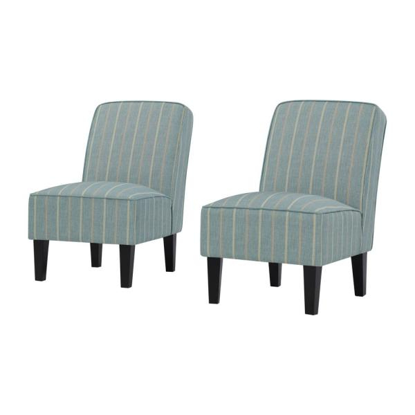 Handy Living Brodee Upholstered Armless Accent Chairs In In Armless Upholstered Slipper Chairs (View 11 of 20)