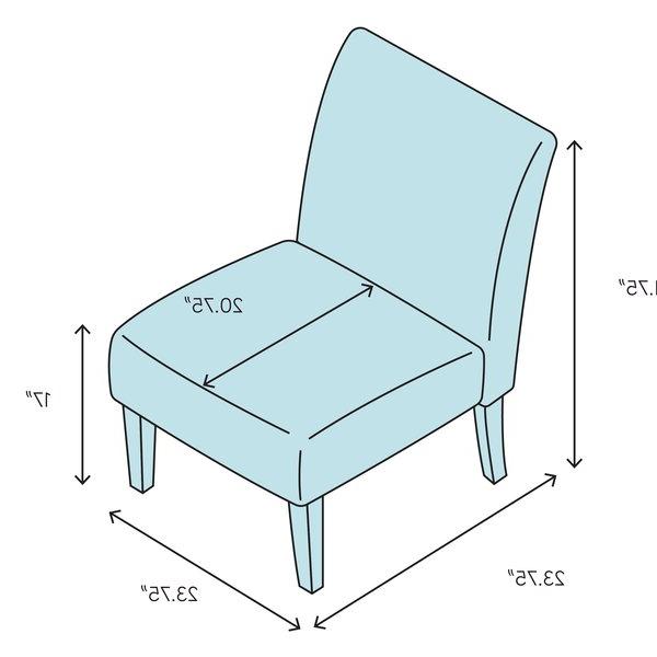 Harland Modern Armless Slipper Chair Pertaining To Harland Modern Armless Slipper Chairs (View 5 of 20)