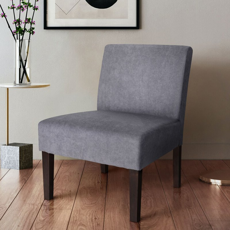 Harland Modern Armless Slipper Chair Throughout Goodyear Slipper Chairs (View 4 of 20)