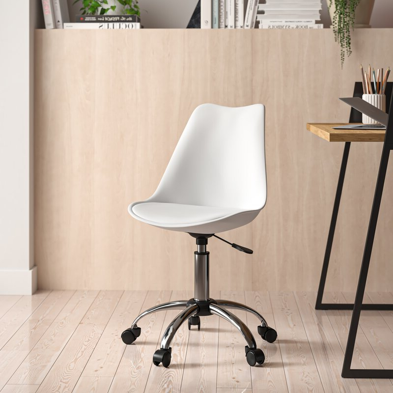 Harland Polyurethane Task Chair Within Harland Modern Armless Slipper Chairs (View 9 of 20)