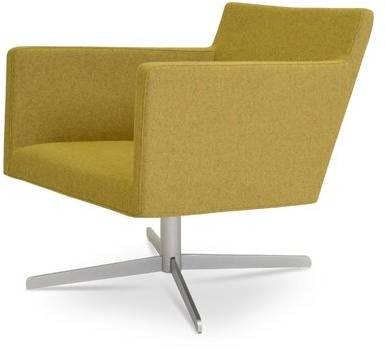 Harput Swivel Armchair Upholstery Color: Amber For Blaithin Simple Single Barrel Chairs (View 20 of 20)