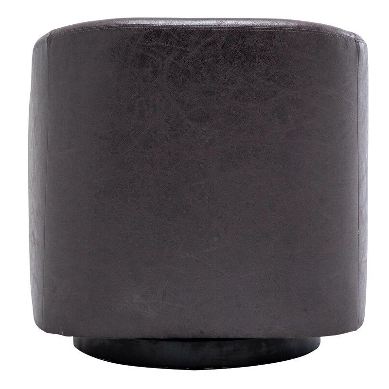 Hazley Barrel Swivel Chair For Hazley Faux Leather Swivel Barrel Chairs (View 7 of 20)