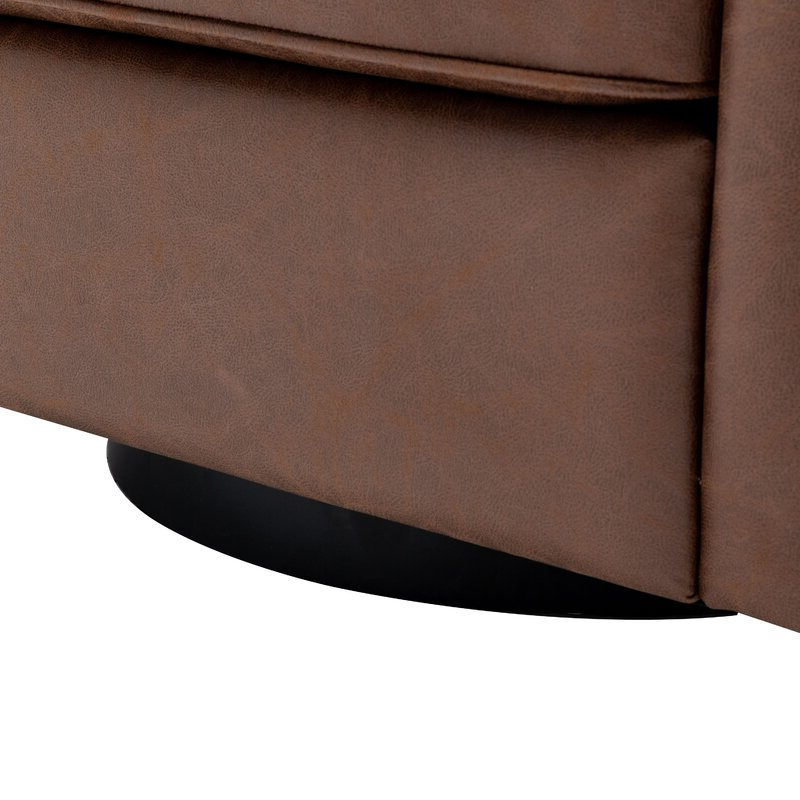 Hazley Barrel Swivel Chair Pertaining To Hazley Faux Leather Swivel Barrel Chairs (View 9 of 20)