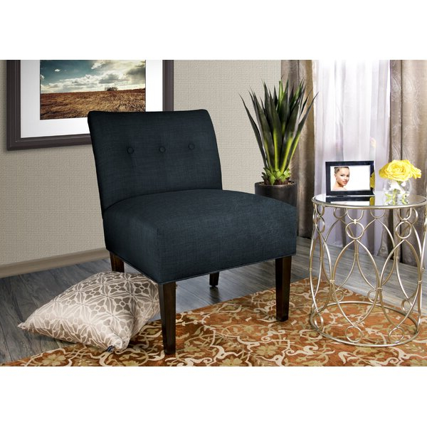 """Heaney 24"""" W Tufted Polyester Blend Slipper Chair Regarding Harland Modern Armless Slipper Chairs (View 14 of 20)"""