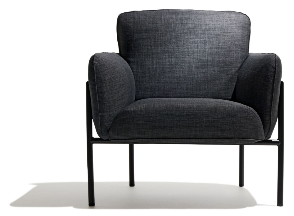 Hew Lounge Chair | Black Lounge Chair, Modern Lounge Chairs For Biggerstaff Polyester Blend Armchairs (View 9 of 20)