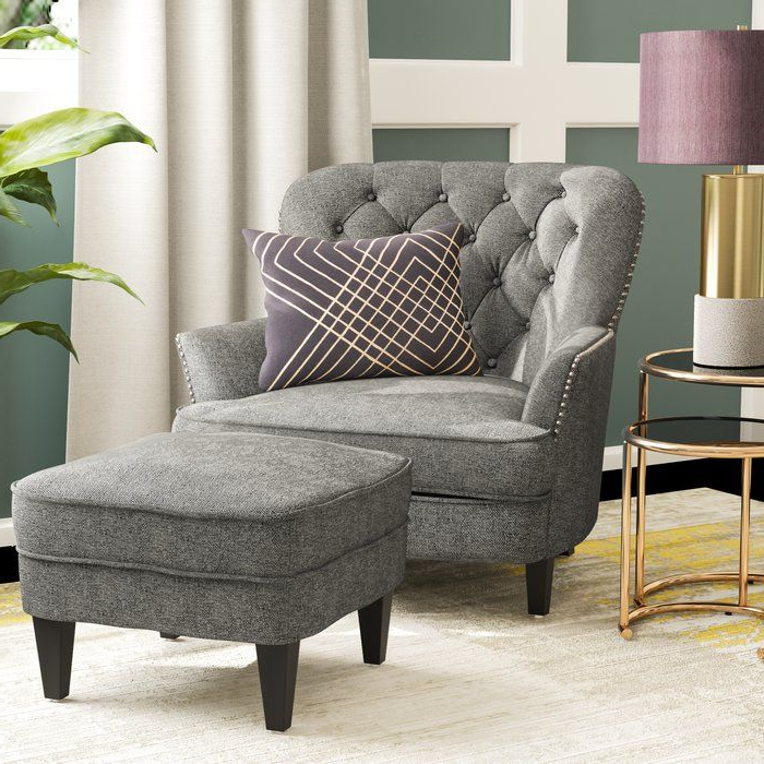"""Heywood 24"""" Armchair And Ottoman 