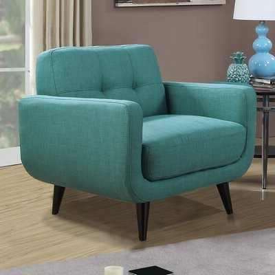 Higbee Armchair Fabric: Teal Polyester Blend Inside Ronald Polyester Blend Armchairs (View 19 of 20)