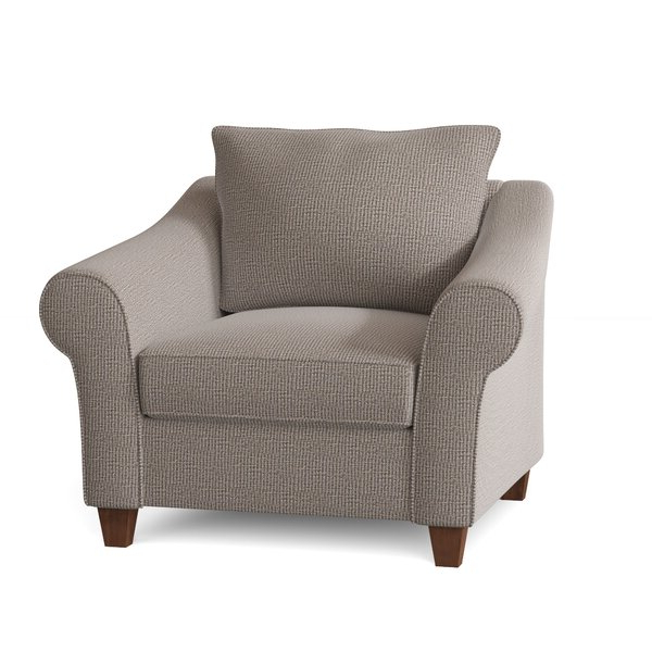 High Back Wicker Arm Chair With Ragsdale Armchairs (View 5 of 20)