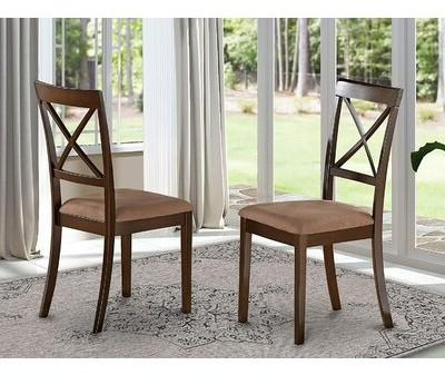 Hillhouse Solid Wood Dining Chair (set Of 2 Frame Color: Cappuccino Pertaining To Briseno Barrel Chairs (View 15 of 20)