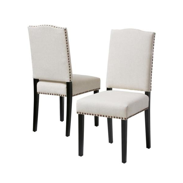 Homesullivan Espresso Beige Heathered Weave Parson Chair In Aime Upholstered Parsons Chairs In Beige (View 5 of 20)