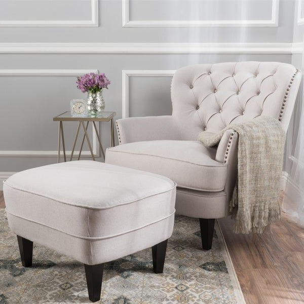 How To Arrange Family Room Furniture | Overstock In 2020 Throughout Michalak Cheswood Armchairs And Ottoman (View 18 of 20)