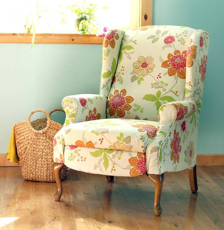 How To Reupholster A Chair • The Budget Decorator Inside Myia Armchairs (View 13 of 20)