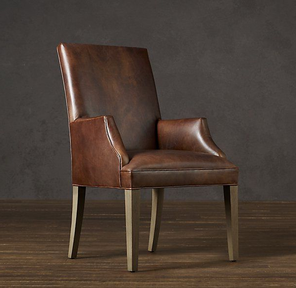 Hudson Parsons Leather Armchair | Leather Dining Room Chairs In Leppert Armchairs (View 17 of 20)