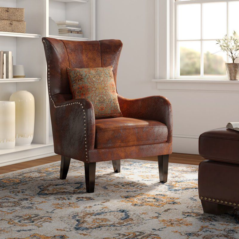 Ilminster Wingback Chair | Wingback Chair, Single Seater Regarding Marisa Faux Leather Wingback Chairs (View 4 of 20)