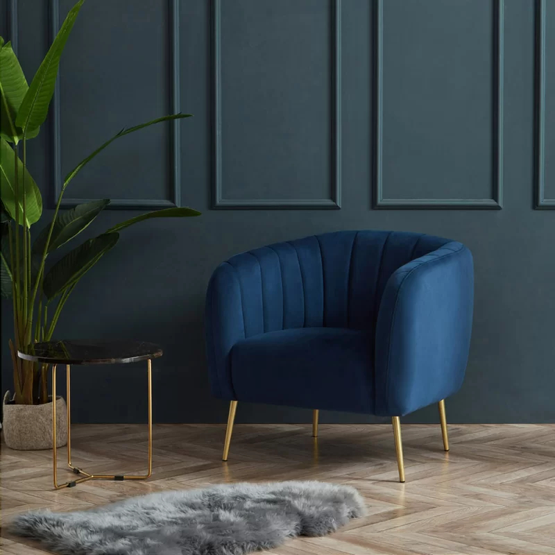 Indianola Modern Barrel Chair In 2020 | Blue Accent Chairs Regarding Indianola Modern Barrel Chairs (View 3 of 20)
