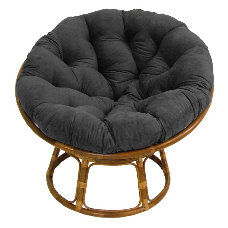 International Caravan Papasan Chair With Solid Micro Suede Cushion – 42 In (View 10 of 20)