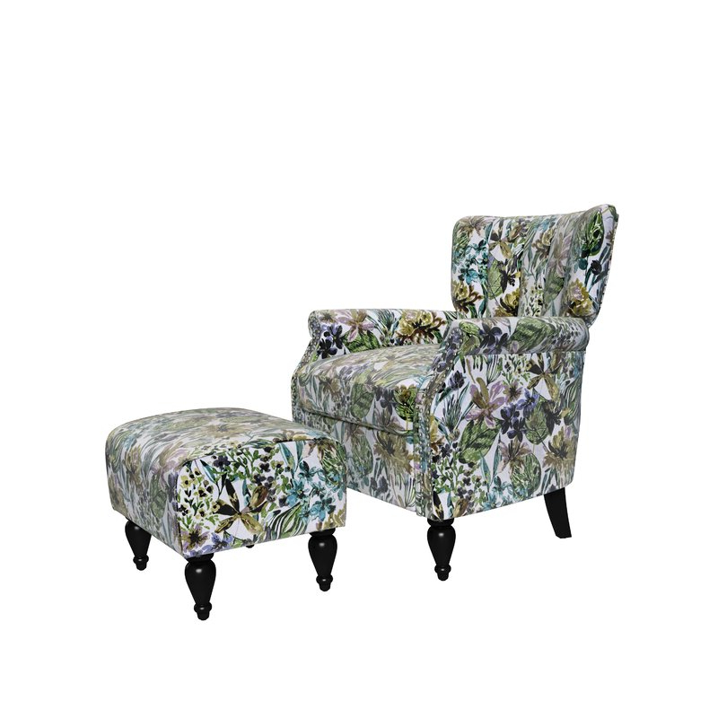"""Iosten Channel 20"""" Armchair And Ottoman With Riverside Drive Barrel Chair And Ottoman Sets (View 12 of 20)"""