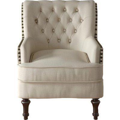 Jayde Armchair Fabric: Beige In 2020   Armchair, Solid Wood With Regard To Jayde Armchairs (View 3 of 20)