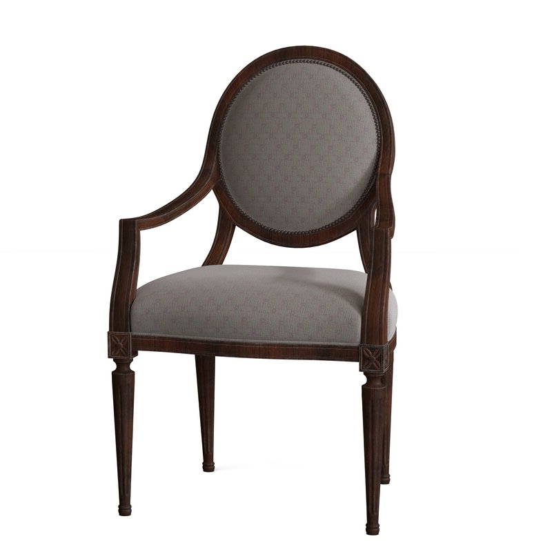 Jil Armchair Intended For Alexander Cotton Blend Armchairs And Ottoman (View 20 of 20)
