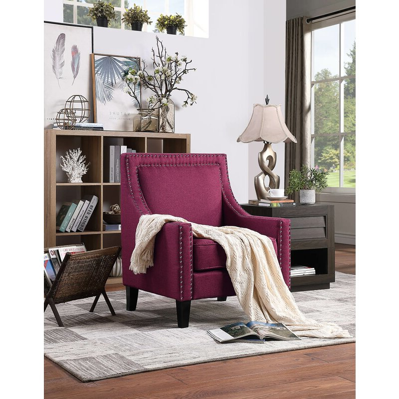 Kayleigh Armchair Intended For Claudel Polyester Blend Barrel Chairs (View 10 of 20)