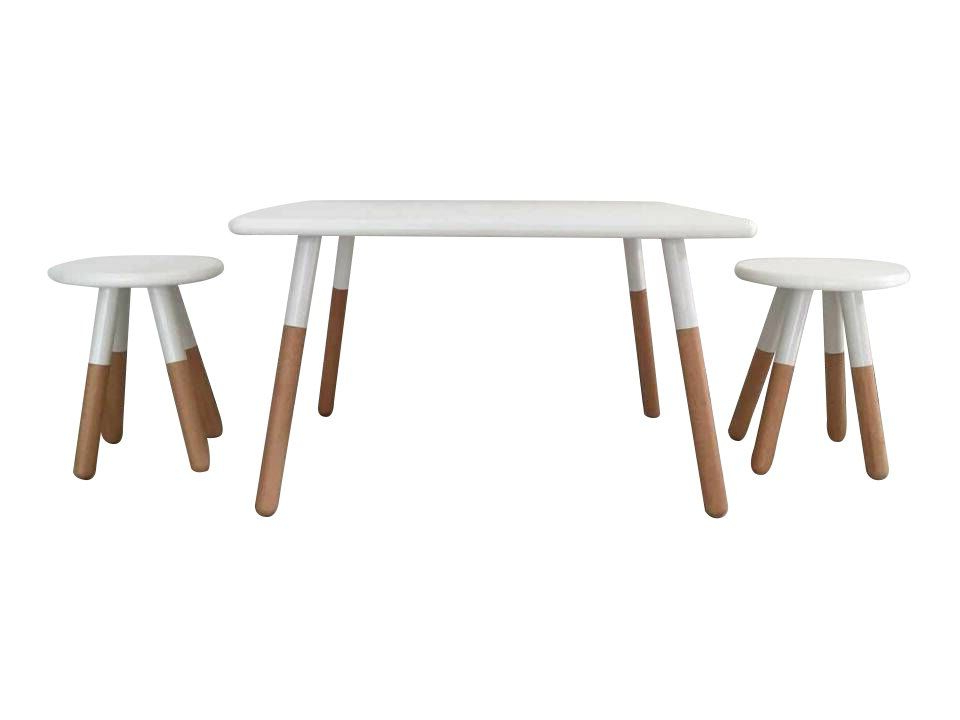 Kids 3 Piece Square Table And Stool Set   Kids Table Chair With Regard To Ansby Barrel Chairs (View 15 of 20)