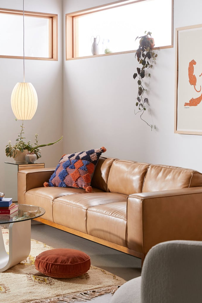 Kiera Faux Leather Sofa | Best Sofas 2020 | Popsugar Home Uk Throughout Jill Faux Leather Armchairs (View 19 of 20)