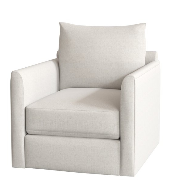 Kira Swivel Armchair In Ronald Polyester Blend Armchairs (View 10 of 20)