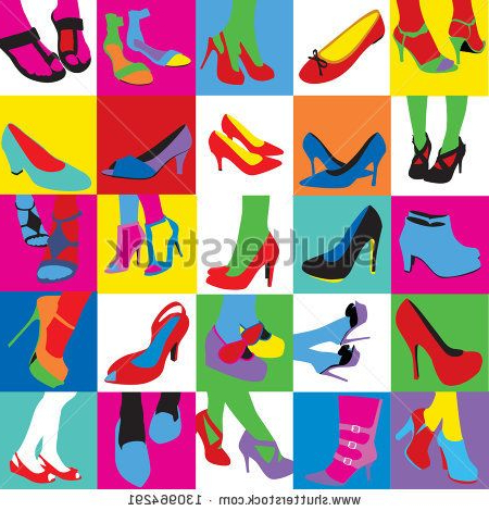 Lady Shoes Pop Art Style – Stock Vector   Pop Art, The Odd Intended For Aniruddha Slipper Chairs (View 20 of 20)