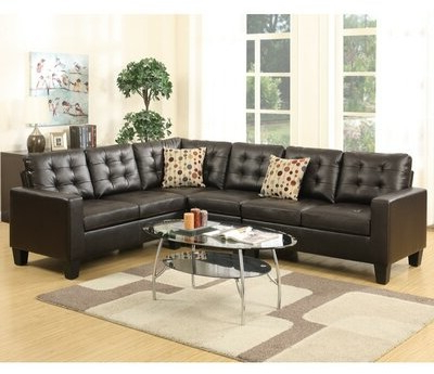 """Lagarde 107"""" Wide Faux Leather Right Hand Facing Sofa & Chaise With Brookhhurst Avina Armchairs (View 15 of 20)"""