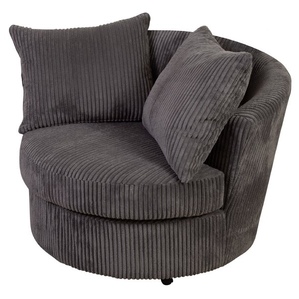 Large Cuddler Barrel Chair Throughout Claudel Polyester Blend Barrel Chairs (View 3 of 20)