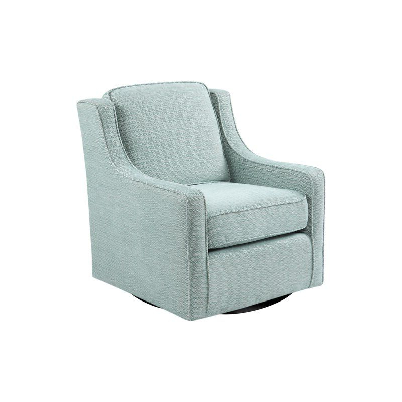 Laurel Foundry Modern Farmhouse Vineland Swivel Armchair Throughout Vineland Polyester Swivel Armchairs (View 7 of 20)