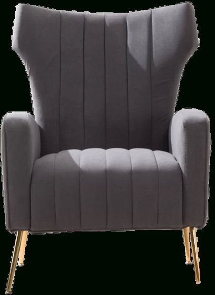 Lauretta Wingback Chair | Gray In Lauretta Velvet Wingback Chairs (View 10 of 20)