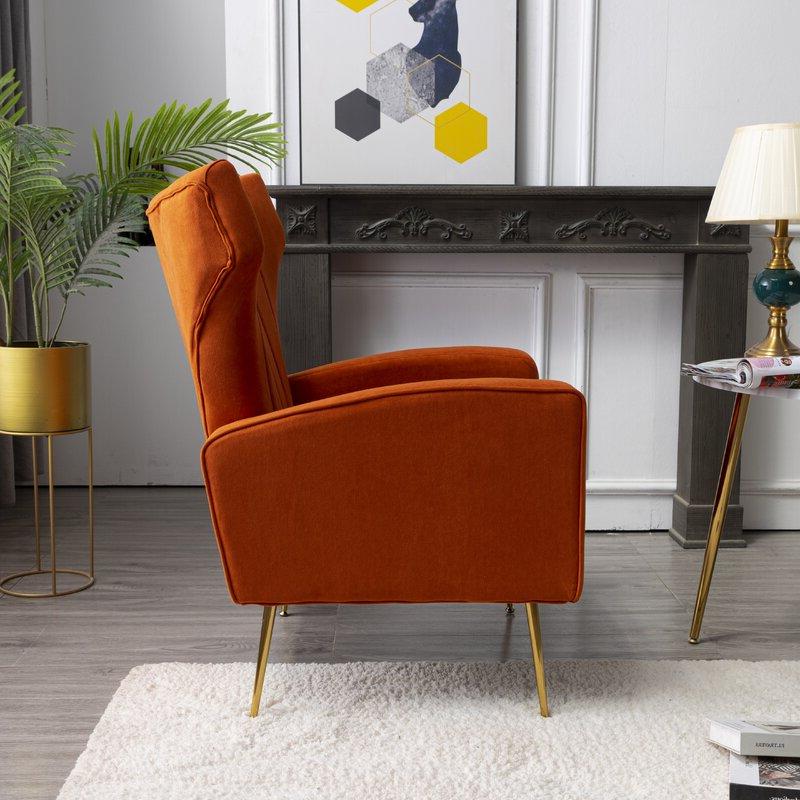 Lauretta Wingback Chair Inside Lauretta Velvet Wingback Chairs (View 16 of 20)