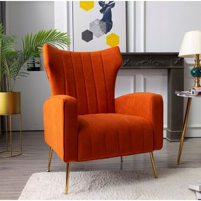 Lauretta Wingback Chair Pertaining To Lauretta Velvet Wingback Chairs (View 6 of 20)