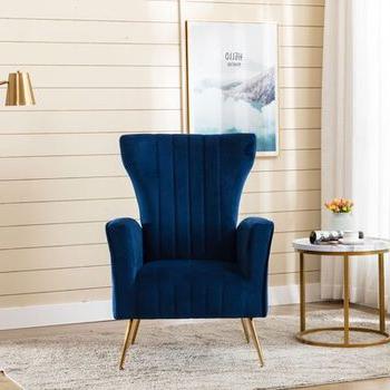 Lauretta Wingback Chair – Wayfair Inside Lauretta Velvet Wingback Chairs (View 11 of 20)
