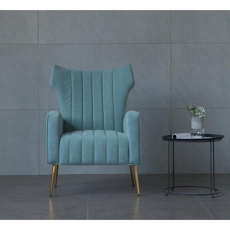 Lauretta Wingback Chair | Wingback Chair, Chair, Velvet Regarding Lauretta Velvet Wingback Chairs (View 3 of 20)