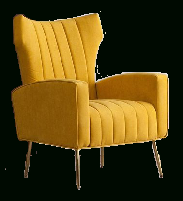 Lauretta Wingback Chair | Yellow Within Lauretta Velvet Wingback Chairs (View 4 of 20)