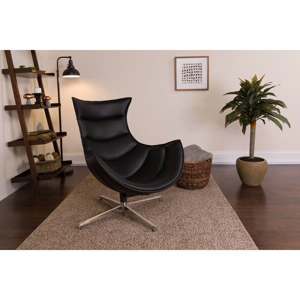 Leather Cocoon Chair Pertaining To Brookhhurst Avina Armchairs (View 20 of 20)
