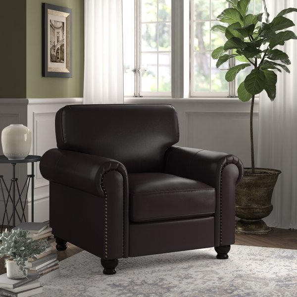 Leather Living Room Chairs Within Brookhhurst Avina Armchairs (View 7 of 20)