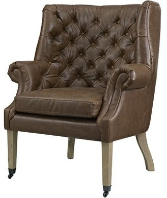 Leather Wingback Chair | Shop The World's Largest Collection Pertaining To Marisa Faux Leather Wingback Chairs (View 8 of 20)