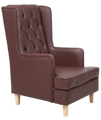 Leather Wingback Chair | Shop The World's Largest Collection With Marisa Faux Leather Wingback Chairs (View 10 of 20)