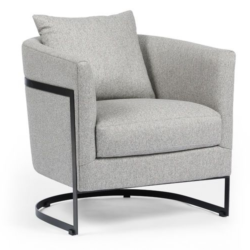 Liam Modern Grey Curved Club Chair In 2020 | Barrel Chair With Regard To Liam Faux Leather Barrel Chairs (View 17 of 20)