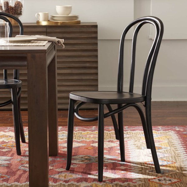 Light Oak Dining Chairs Inside Bob Stripe Upholstered Dining Chairs (set Of 2) (View 18 of 20)