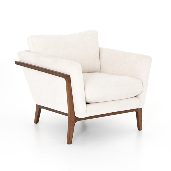 Living Room | Dash Chair Camargue Cream/pecan | Armchair Pertaining To Leppert Armchairs (View 4 of 20)