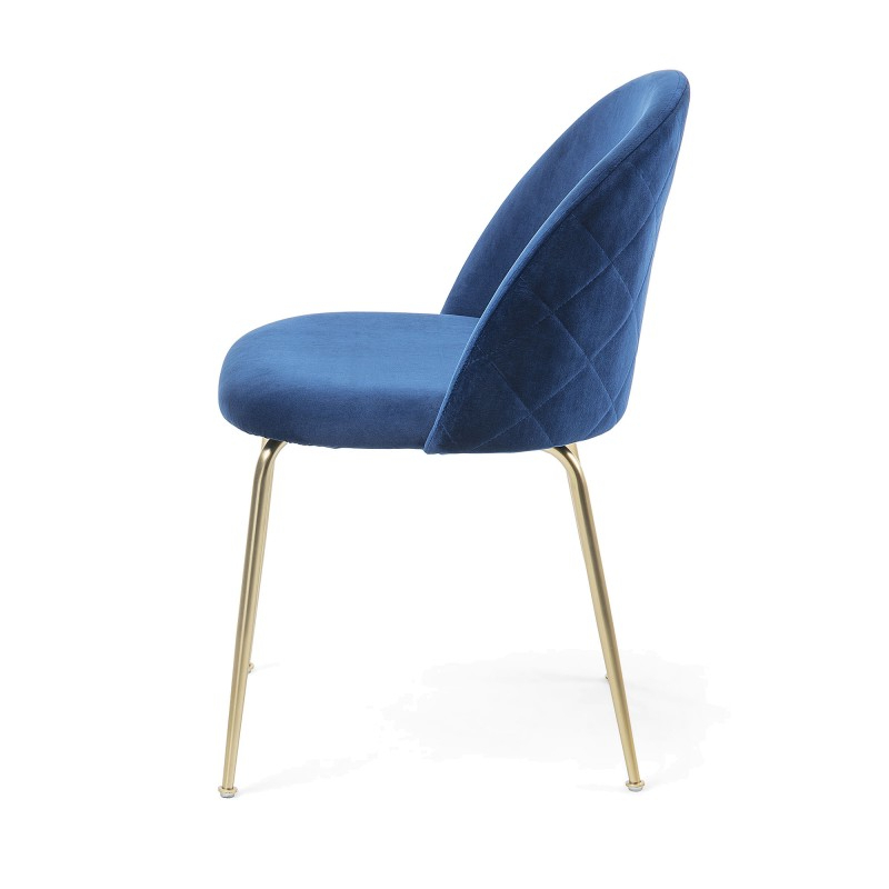 Loftus Velvet Fabric Dining Chair, Navy / Gold Regarding Loftus Swivel Armchairs (View 16 of 20)