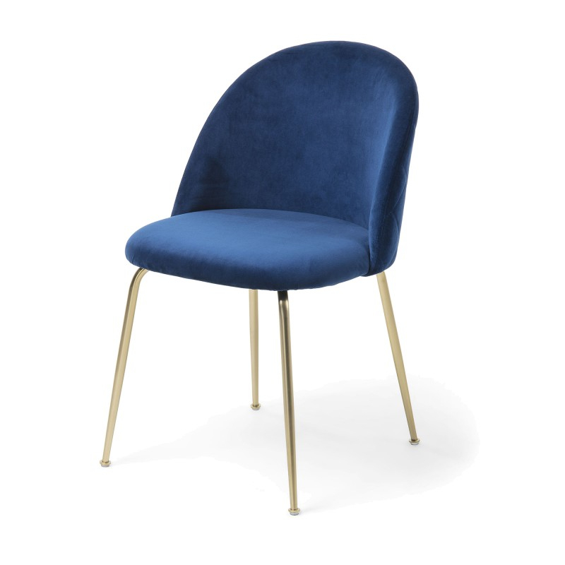 Loftus Velvet Fabric Dining Chair, Navy / Gold With Regard To Loftus Swivel Armchairs (View 18 of 20)