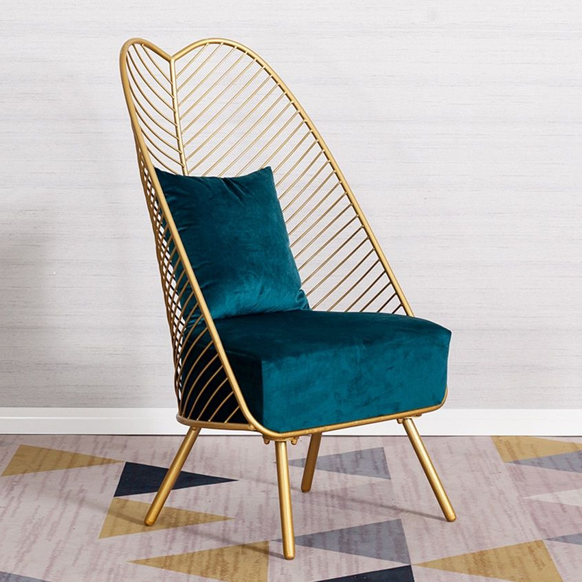 Louis Fashion Living Room Chairs Single Sofa Nordic Creative In Artressia Barrel Chairs (View 6 of 20)