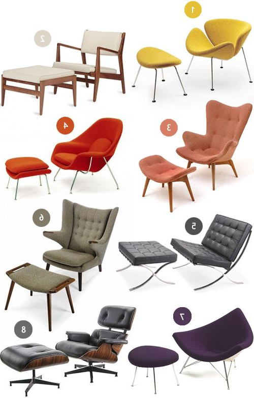 Lounge Chairs Om Lekker Languit Te Gaan | Mid Century Modern Intended For Modern Armchairs And Ottoman (View 2 of 20)